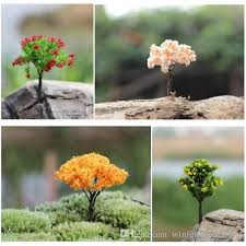 cheap tree figurines mix 4 style micro landscape
