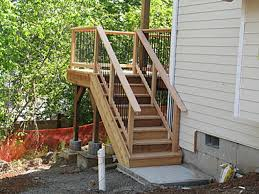 Exterior Stair Railing by Stair Railing Questionopinions Decks Fencing Contractor Talk Deck
