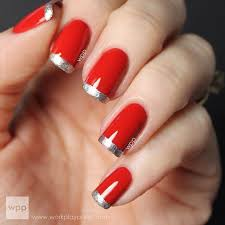 31 cool french tip nail designs red black nails red nails and
