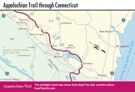 Map Of Central Massachusetts by Appalachian Trail Driving Route Road Trip Usa