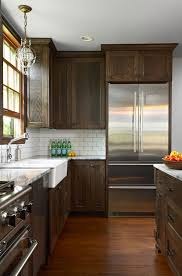 White Backsplash For Kitchen by Best 25 Dark Kitchen Cabinets Ideas On Pinterest Dark Cabinets
