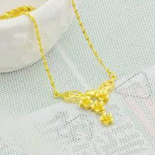 girl gold necklace images Wholesale jindian models angel pendants 18k gold necklace plum jpg