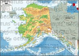 United States Canada Map by Geoatlas United States Canada Alaska Map City Illustrator
