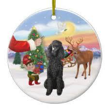 black poodle ornaments keepsake ornaments zazzle