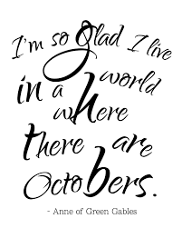 october quote free printable and vignette
