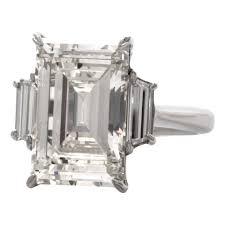 Emerald 8 04 Carat Emerald Cut Diamond Platinum Engagement Ring For Sale