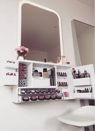 wall mounted makeup organizer vanity by bleachla on etsy https wall mounted makeup organizer vanity by bleachla on etsy https www etsy