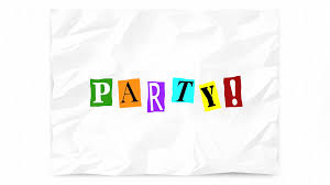 party invitation ransom note cutout letters words 3d animation