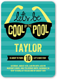 cool by the pool 5x7 invitation boy birthday invitations shutterfly