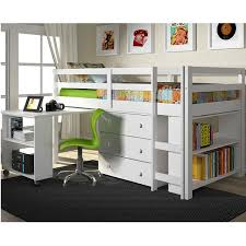 low loft bed with desk drk architects