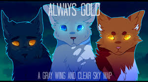 always gold grey wing clear sky complete warrior cats m a p