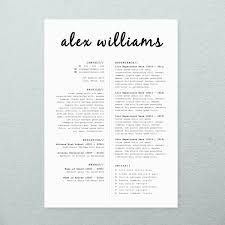 Template Cover Letter For Resume Cv Design Cover Letter Printable Resume By Brandconceptco On Etsy
