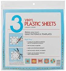 Plastic Template Sheets Amazon Com Quilter S Plastic Template 12x12 3 Pkg