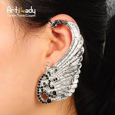 ear pins artilady fairy wing ear cuff silver plated retro ear