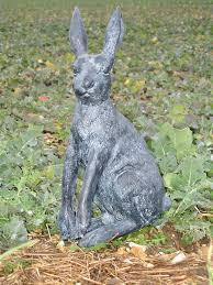 outdoor garden classic hare ornament rabbit statue co uk