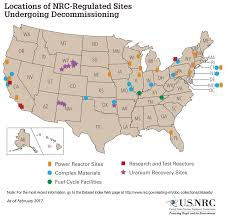 Japan Usa Map by Nrc Nrc Maps Of Decommissioning Sites