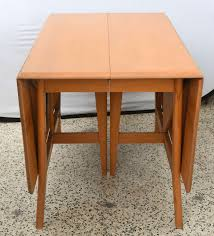 Modern Drop Leaf Dining Table Maple Heywood Wakefield Drop Leaf Dining Table 1950s Saturday