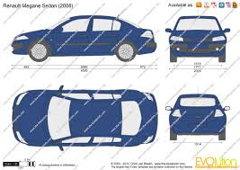 renault megane 2003 the blueprints com vector drawing renault megane sedan