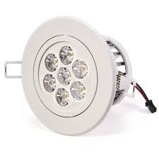 Led Recessed Lighting Fixtures 7 Watt Led Recessed Light Ceiling Light Fixture Aimable And