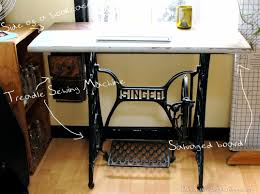 diy treadle sewing machine desk with drawers u2013 deconstruction crafts