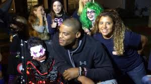 cam newton heard about an early halloween party for a boy with