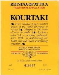 Greek Wine Cellars - nv greek wine cellars d kourtakis retsina of attica greece