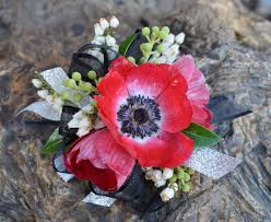 Red Prom Corsage Wildprairiefloral Prom