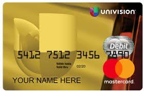 prepaid mastercards univision mastercard benefits univision mastercard prepaid card