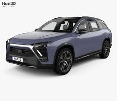 mitsubishi crossover interior nio es8 with hq interior 2018 3d model hum3d