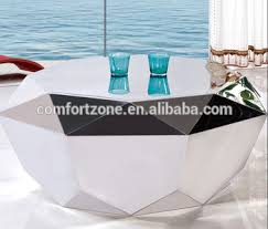 silver mirrored coffee table cn8023 antique modern round silver mirror coffee table with stools