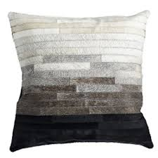 Metallic Cowhide Pillow Cowhide Pillow Cover U2013 Diamondback Wisteria