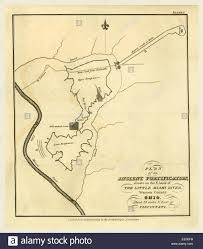 Bank Of America Maps by Map Of An Ancient Fortification On The Bank Of The Little Miami