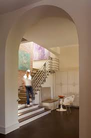 stairs wall decoration ideas staircase contemporary with dark