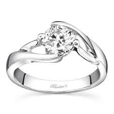 swirl engagement rings barkev s swirl solitaire engagement ring