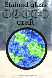 stained glass planet earth craft my mommy style