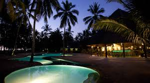 zanzibar bluebay resort pool at night 2 pure tanzania