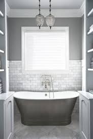 Charming White And Gray Bathroom Bathrooms Pinterest Grey - Bathrooms with white tile