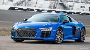 Audi R8 Front - 2017 audi r8 v10 plus blue us spec front hd wallpaper 5