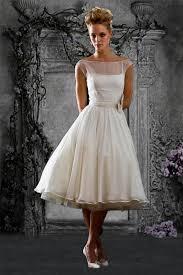 t length wedding dresses retro modest chiffon tea length wedding dress reception dress