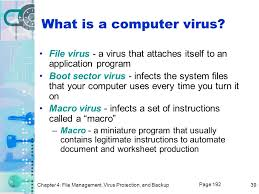 chapter 4 file management virus protection and backup ppt