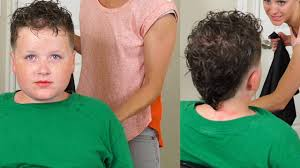 how to cut toddler boy hair curly how to cut boys curly hair stylish boys fohawk youtube