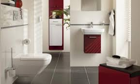 interior white modern bathroom paint colors alongside red accent