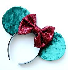 emerald green velvet minnie ears