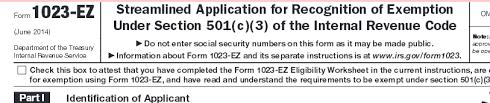 1023 ez irs form buckley lawbuckley law p c