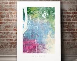 memphis map etsy