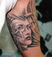 biomechanical womans inner biceps tattoos book
