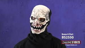 skeleton ghost mask bs2550 bone a part moving mouth mask youtube