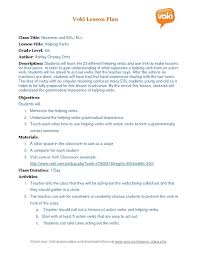 helping verbs grammar for esl ell 3rd 6th grade lesson plan