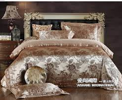 Silk Comforters Bedding Sets King Size Jacquard Silk Bedding Sets Queen King 4pcs