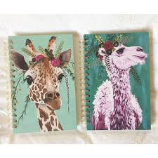urban giraffe ring holder images Urban outfitters animal flower crown notebook bundle from jpg
